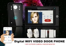 Home high - definition intelligent WIFI network wireless video intercom doorbell with anti - theft alarm video door phone