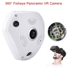 Fisheye Lens 1.3MP VR 960P HD Wifi 3D Panoramic Camera Security Wireless Night Vision Surveillance Cams (US Adapter) LCC