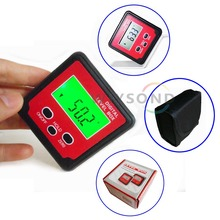 C019 2 x 180 Degree Digital Level Box Angle Gauge Meter mini Protractor 360 degrees with Magnet Base Backlight(China)
