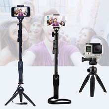 Camera Phone Bluetooth Extendable Selfie Stick Yunteng 1288 Telescopic Monopod Pole or 228 Mini Tripod For Iphone 5 6 7 Samsung