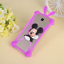 Universal 3D Cute Cartoon Stitch Minnie Soft Silicon Rubber Cover Back Case For Doogee X3 Cell Phone Protect Cases Fundas Capa