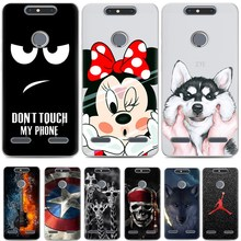 TPU Cover for ZTE Blade V8 mini cover,Cartoon TPU Case for ZTE Blade V8 mini case Gel Phone Skin Bag Painted Soft TPU