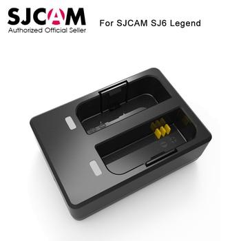 D'origine SJCAM Accessoires Voyage De Bureau Chargeur Double Slot Batterie Chargeur pour SJCAM SJ6 Légende Action Sports Caméra