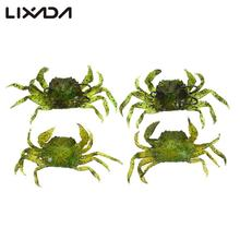4PCS Soft Fishing Crab Lures Bait Artificial with Hooks Simulation Saltwater Lure Pesca Carp Fishing Fishing Lure Set(China)
