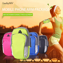 6 Inch Sport Running Arm Bag Wrist Pouch Exercise Jogging GYM Phone Arm Bag for IPhone 5 6 7 Samsung Galaxy S6 S7 Huawei