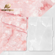 "Mimiatrend Pink White Marble Grain PU Cover for Amazon Kindle Paperwhite 1 2 3 449 558 Voyag Case 6"" Ebook Tablet Accessories(China)"