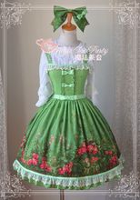 Magia tea party jardín kawaii impresión suspender dress jsk lolita chica japonesa estilo verde