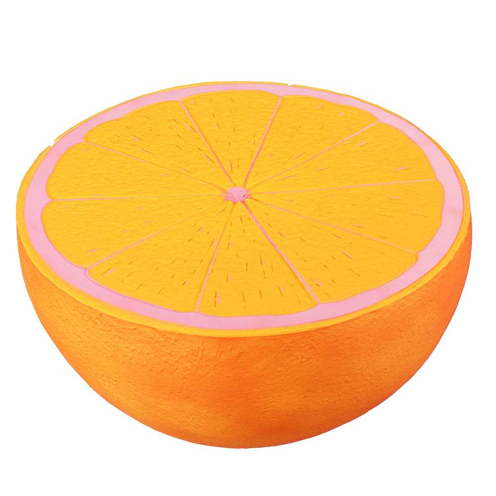 25cm Huge Temperature Sensing Orange Fruit Squishy 7