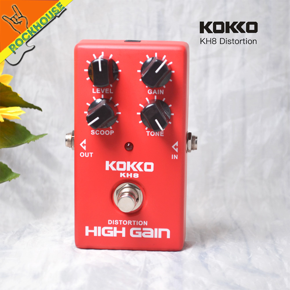 KOKKO High Gain Distortion Guitar Effects Pedal Crunch Distortion Guitarra Stompbox large adjustable Rock Style Free Shipping<br>