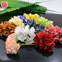 Wholesale 60pcs 4cm Silk Chrysanthemum Bride Artificial Flowers For Wedding Party Home Room Decoration Daisy DIY Marriage Wreath