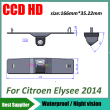 Waterproof 100% CCD HD Night vision car rear view parking camera for Citroen Elysee 2014 car reverse camera