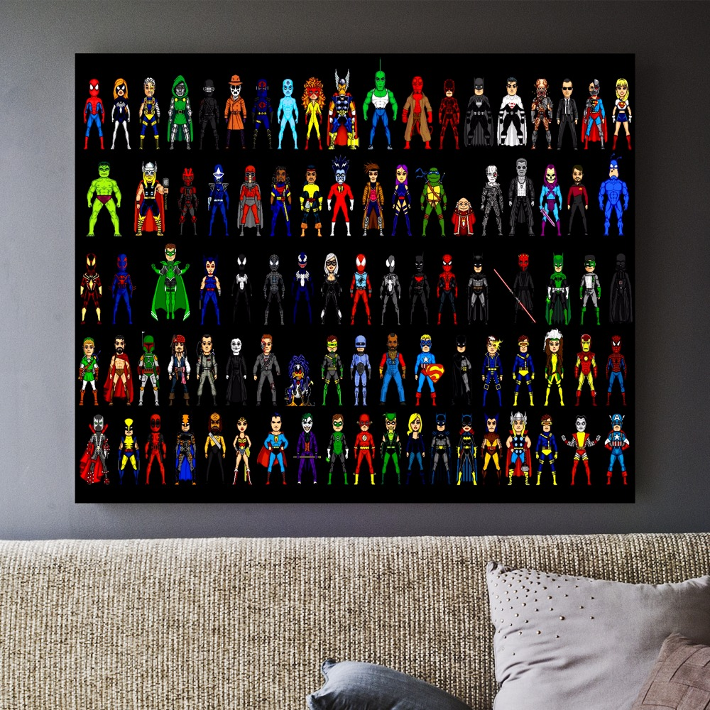 Marvel Superheroes Canvas Art Print Painting Poster Wall Pictures For Room Home Decoration Wall Decor No Frame (3)