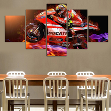 5 pieces. free shipping popular hot sell modern cool motorcycle wall painting wall art print canvas paint the avatar
