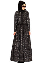 muslim women dress djellaba casual abaya plus size caftan lace long dress turkish dubai robe arab traditional clothing