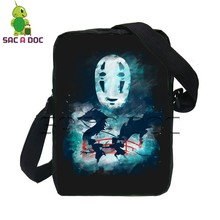 Anime Ghibli My Neighbor Totoro Spirited Away Outline Messenger Bag Travel Handbag for Men Women Cartoon Crossbody Shoulder Bag(China)