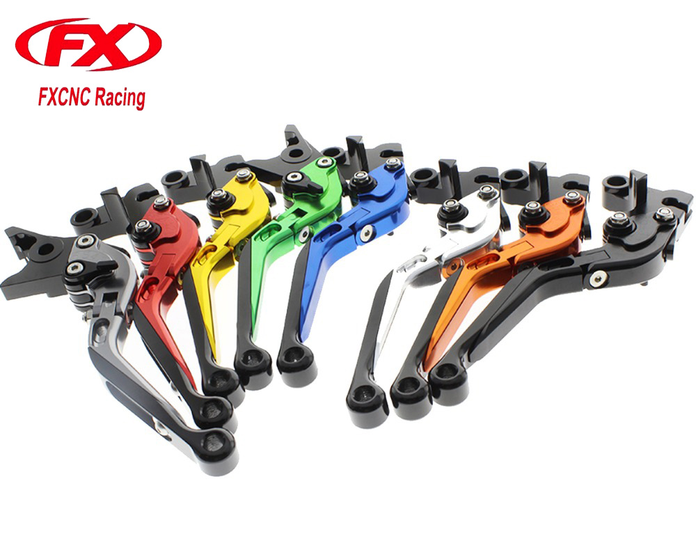 FX CNC Folding Extendable Adjustable Motorcycle Brake Clutch Levers For KAWASAKI ZX1400 ZX14R ZZR 1400 GTR1400 CONCOURS Brakes<br>
