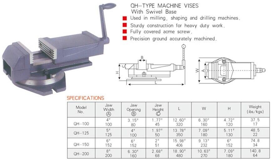 QH100 machine vises tools<br>