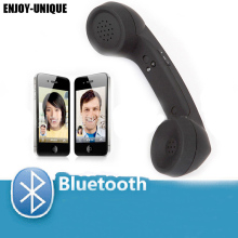 ENJOY-UNIQUE 2016 New wireless Bluetooth Mic Headphones Comfort Retro Phone Handset Mic Speaker Phone Call Receiver(China)
