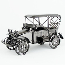Creative gift Antique classic cars model handmade retro metal craft for home/pub decoration old fashion(China)