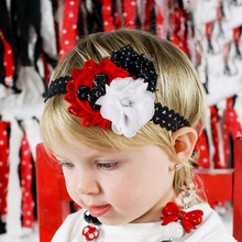 TWDVS Kids Christmas Style Baby Flower Headband Toddler Cotton Children Headwear Girls Merry Christmas Hair Accessories W241