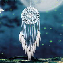 Vintage Enchanted Forest Mini Dreamcatcher Handmade Dream Catcher Net With Feather Decoration Home Ornament Dromenvanger(China)