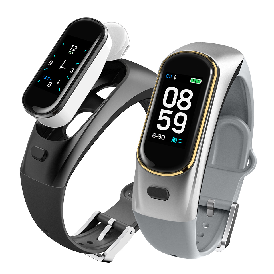 smart bracelet with heart rate monitor talk band talkband wireless Bluetooth call headset for Huawei Samsung iSO phone PK b5