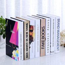 10PCS selling fake book bookcase Decor living room coffee bar simulation box props Book shell ornaments