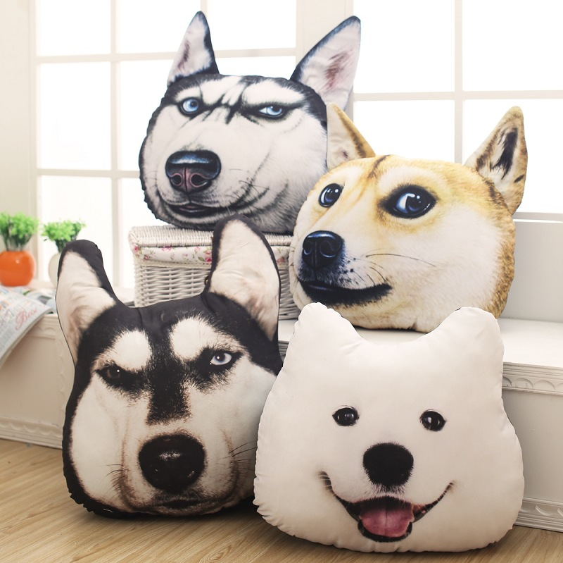 40cm Bed Home Office Car Cushion Pillow Stuffed Plush Doll Soft Toy Baby Lovely Doll 3d Printed Dog Doll Free Shipping<br><br>Aliexpress