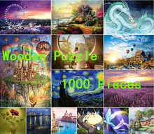 Wooden Puzzles 1000 Pieces cartoon puzzles adult puzzles wooden jigsaw puzzle 1000 pieces toys for children(China)