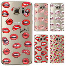 Graffiti Sexy Girl Kylie Lips Phone Case For Samsung Galaxy S3 S4 S5 Mini S6 S7 Edge Transparent Clear Back Cover For Samsung S7(China)