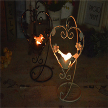 Metal Iron Wall Candle Holders For Wall Decoration Moroccan Lanterns Candle Holder Household Products Candlestick QQX71(China)