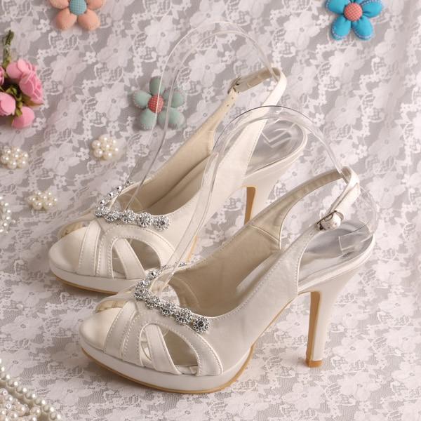 Wedopus MW206 Fashion Summer Womens Sandals for Wedding High Heeled Bridal Shoes<br><br>Aliexpress