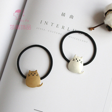 Shapu new cute cartoon alloy totoro gold pendant rope women fashion hair bands tied hair elastic hair accessories lady headwear(China)