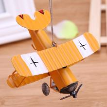 Mini Vintage Metal Plane Model Aircraft Glider Biplane Aeromodelo Airplane Model Kids Toys Home Office Christmas Decoration