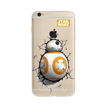 0033 Star Wars The Force Eveille Bb-8 Droid Robot cell phone bags case cover for iphone 4S 5S 5C SE 6S 7 PLUS Samsung NOTE IPOD