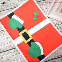 1Pc Lovely Table Placemats Happy Santa Claus Christmas Dining Placemat Table Mat Decor(China)
