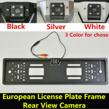 Waterproof 170 degree CCD Night Vision European License Plate Frame Backup Car Number Rear View RearView Reverse Camera