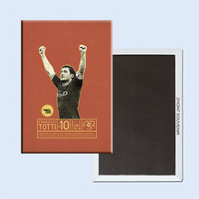 Roma Italia Vintage Retro Poster,Football star Francesco Totti Memorabilia Fridge Magnets 22369 Nostalgic Gift for Soccer Fans