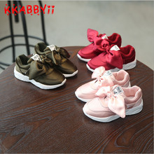 KKABBYII Girls Sport Shoes New Autumn Brand Design Big Bow Kids Princess Shoes Fashion Girls Shoes Soft Breathable Shoes EU26-30