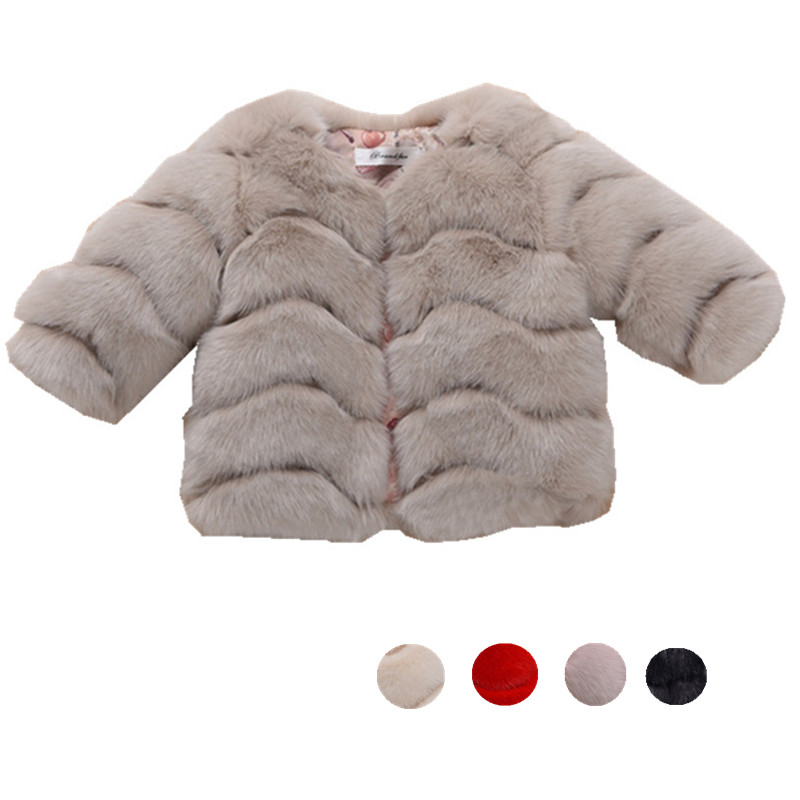 2017 New Childrens Faux Fur Coat Winter Girls Fur Outerwear Toddler Baby Girls Jacket Warm Clothes<br><br>Aliexpress