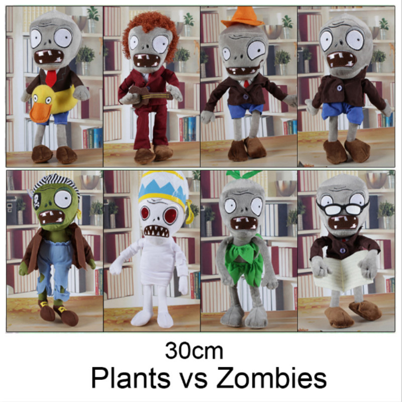 NEW ARRIVAL 30CM 12'' Plants vs Zombies Soft Plush Toy Doll Game Figure Statue Baby Toy for Children Gifts HT3031(China)