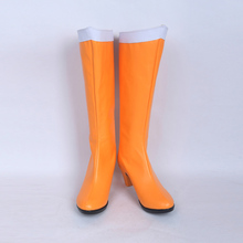 Free Shipping Anime Sailor Moon Crystal Cosplay Costume Boots Orange Cosplay Party Shoes New