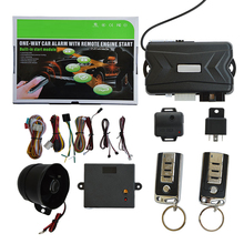 Universal Fit Quality SPY One Way Built-in Start Module Car Alarm with keyless entry system Remote Engine Start Function(China)