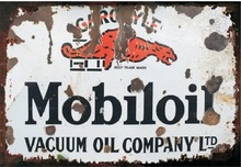 Gargoyle mobiloil ! Vacuum oil company! metal signs vintage tin plate iron painting wall decoration for garage cafe