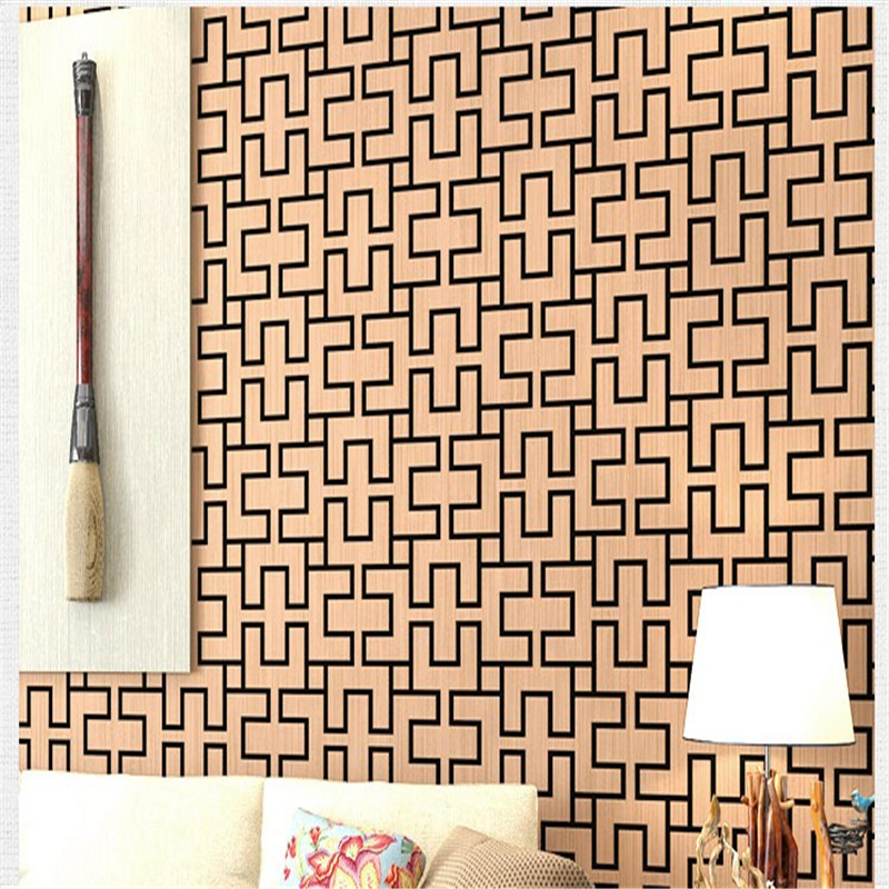 beibehang Chinese retro wallpaper Chinese restaurants aisle porch coffee parlor bedroom wallpaper decoration engineering grid<br>