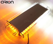 CIRON 12V/24V Amber / White 40 LED Vehicle Roof Top Emergency Hazard Warning Strobe Light Lamp 6 Pcs Strong Magnet base