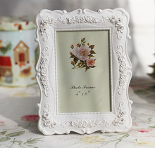 Creative Photo Frame Roses Flowers Crystal Diamond White Europe Style Fashion Vintage Ornaments Photo Frames Home Accessories