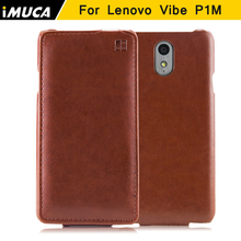 IMUCA For lenovo vibe p1m case cover Flip Protective pu Leather Cases for lenovo vibe p1m covers black bags mobile phone cases(China)