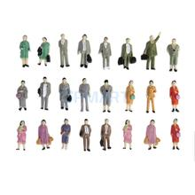24pcs Painted Model Train Standing Posture People Figures Scale HO (1 to 87) P87-12(China)