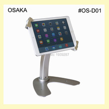 7 to 13 inch android tablet lock stand kiosk with security holder mounting on desk or table rotating support for surface pro(China)